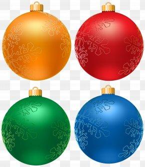 Christmas Balls Set Clip Art PNG