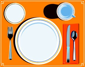 Table Of Contents Clipart - Table Setting Dinner Clip Art PNG