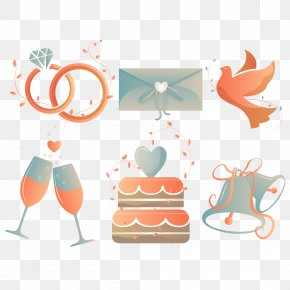 Creative Wedding Elements Icon Vector Material - Wedding Download Icon PNG