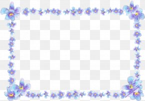 Forget Me Not Transparent - Picture Frame Flower Clip Art PNG