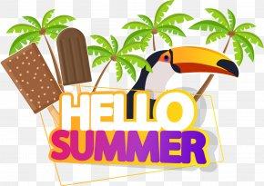Hello Summer Summer Title - Royalty-free Euclidean Vector Logo Illustration PNG