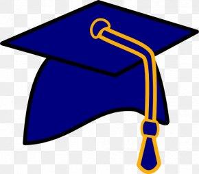 Blue Cap Cliparts - Square Academic Cap Graduation Ceremony Blue Clip Art PNG