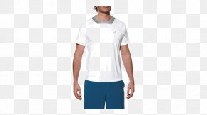 T-shirt - T-shirt Asics Athlete Shortsleeve Men's Tennis Shirt M White Shoulder Sportswear PNG