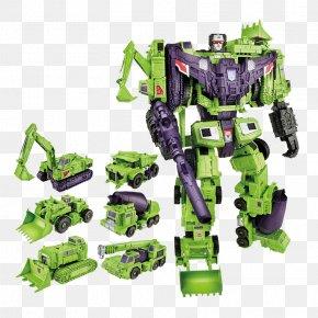 Transformers - Devastator Scrapper Optimus Prime Transformers Constructicons PNG