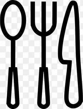 Cookout Cartoon Utensils - Spoon Fork Knife Tableware PNG