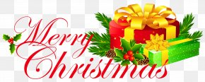 Transparent Merry Christmas With Presents Clipart - Christmas Clip Art PNG
