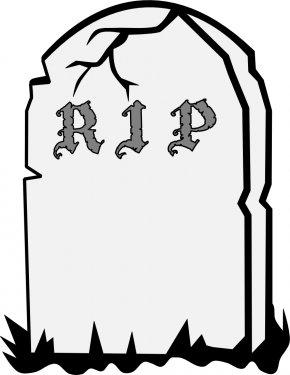 Gravestone Clipart - Headstone Cemetery Grave Epitaph Clip Art PNG