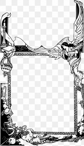 Picture Frame Line Art - Christmas Picture Frame PNG
