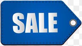 Blue Sale Tag Transparent Clip Art Image - Sales Tag Clip Art PNG