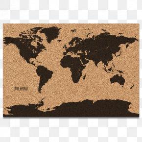 World Map - World Map Bulletin Board Globe PNG