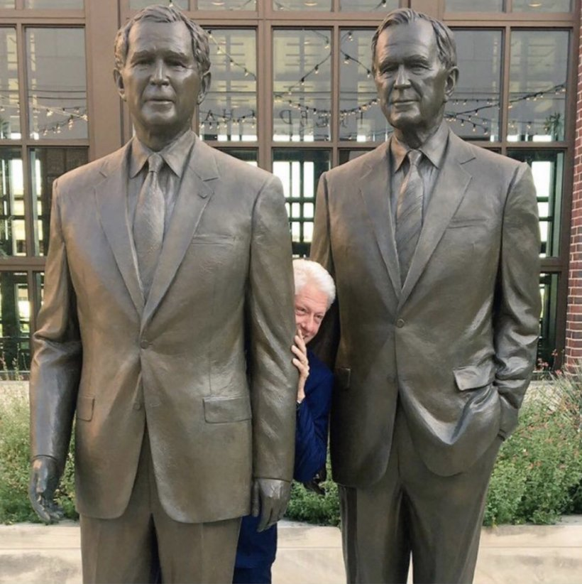 President Of The United States George W. Bush Presidential Center Shrub First Lady Of The United States, PNG, 1019x1022px, United States, Bill Clinton, Donald Trump, First Lady Of The United States, George H W Bush Download Free