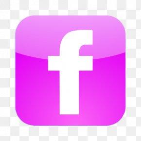 Facebook Icon Pink Purple - Flickr Social Media Icon Design PNG