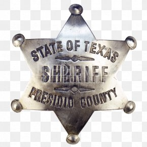Sheriff Badge - Texas American Frontier Badge Sheriff Cowboy PNG
