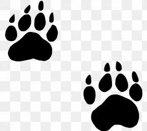Animal Footprints Cliparts - Bear Paw Dog Cat Clip Art PNG