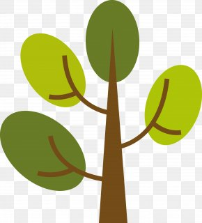 Lush Tree Vector - Branch Leaf Tree Euclidean Vector PNG