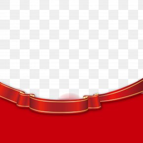 Red Modern Poster Decoration - Red Material PNG