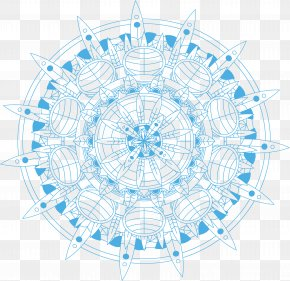 Sky Blue Retro Pattern - 2015 La Parisienne PNG