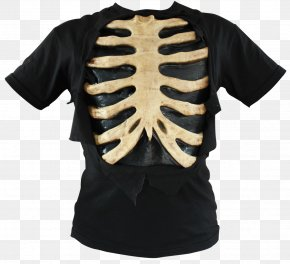 T-shirt - T-shirt Bone Rib Cage Shoulder PNG