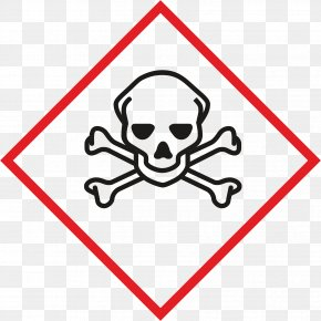 Symbol - GHS Hazard Pictograms Skull And Crossbones Human Skull Symbolism Globally Harmonized System Of Classification And Labelling Of Chemicals PNG