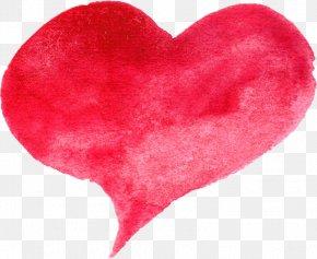 Watercolor Heart - Heart Desktop Wallpaper Clip Art PNG