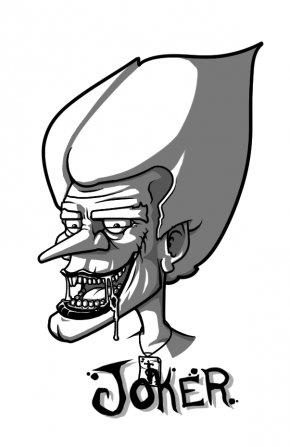 Joker Art Pictures - Joker Batman Line Art Cartoon Clip Art PNG