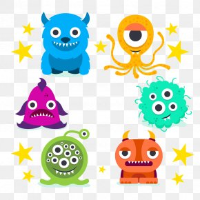 Vector Monster Collection - Monster Cartoon Illustration PNG