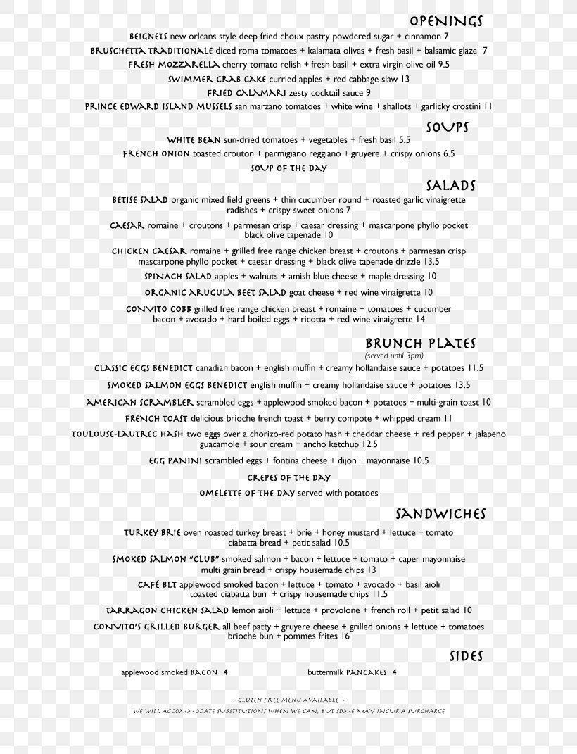 Menu Of Services Template from img.favpng.com