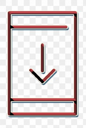 Rectangle Downloading From Smartphone Icon - Web Navigation Line Craft Icon Technology Icon Download Icon PNG