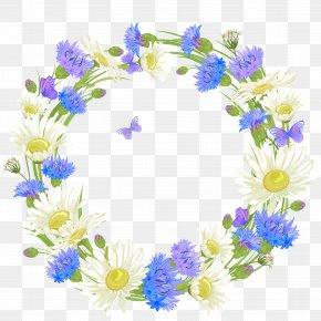 Flower - Wreath Flower Floral Design Clip Art Borders And Frames PNG