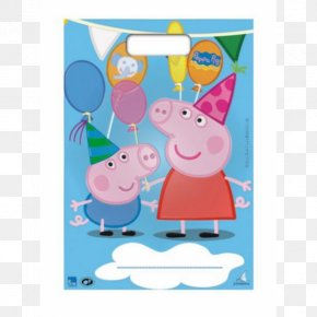 Party - Daddy Pig Party George Pig Birthday Bag PNG