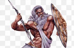 Hand Painted Zeus God - Zeus Mount Olympus Hades Poseidon Hera PNG
