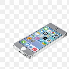 White Apple Phone - IPhone 5 IPhone 6 Apple IOS 7 Smartphone PNG
