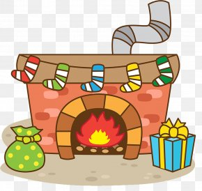 Christmas Eve Indoor Fireplace - Furnace Fireplace Stove Christmas PNG