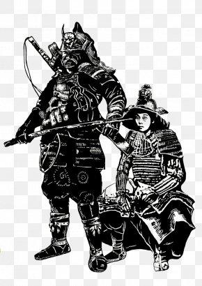 Sengoku Samurai Vector - Japan Sengoku Period Samurai Illustration PNG