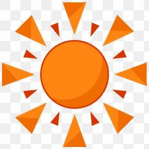 Orange Simple Sun Decoration Pattern - Rain Day Odor Clip Art PNG