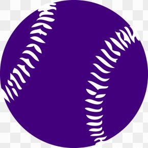 Purple Softball Cliparts - Baseball Bat Softball Clip Art PNG