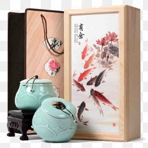 Tea Pot Gift - Jiuru Ink Wash Painting Chinese Painting Bird-and-flower Painting PNG