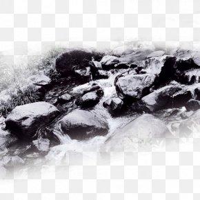 Black And White Landscape Stone - Real Estate Black And White Desktop Wallpaper Poster PNG