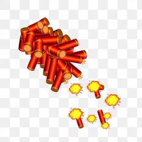 Chinese New Year Red Firecrackers - Firecracker Chinese New Year Traditional Chinese Holidays PNG