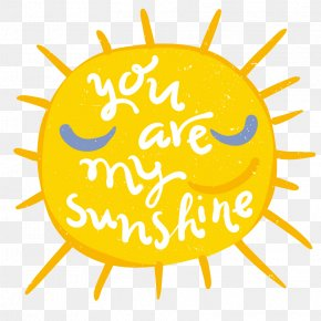 You Are My Sunshine Cartoon Illustration Vector Material - Clip Art PNG