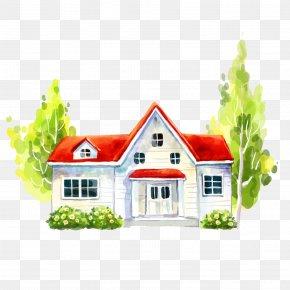 White House - House Villa Illustration PNG