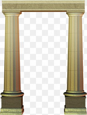 Decorative Columns - Column Architecture Decorative Arts Pier PNG