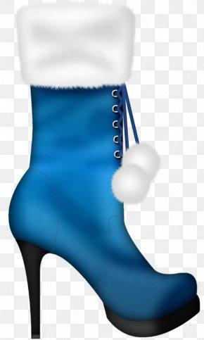 Blue Boots - Slipper Boot Shoe Footwear PNG