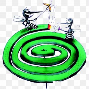 Cartoon Mosquitoes With Mosquito Coils - Mosquito Coil Insecticide Insect Repellent PNG
