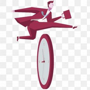 Cross Time - Stock Illustration Cartoon Businessperson Hurdle PNG