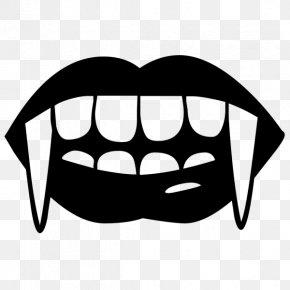 Vampire - Fang Vampire Tooth Clip Art PNG