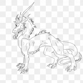 Dragon Line Art - Line Art Drawing /m/02csf Wildlife Animal PNG