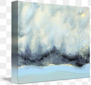 Painting - Watercolor Painting Picture Frames Gallery Wrap Canvas PNG