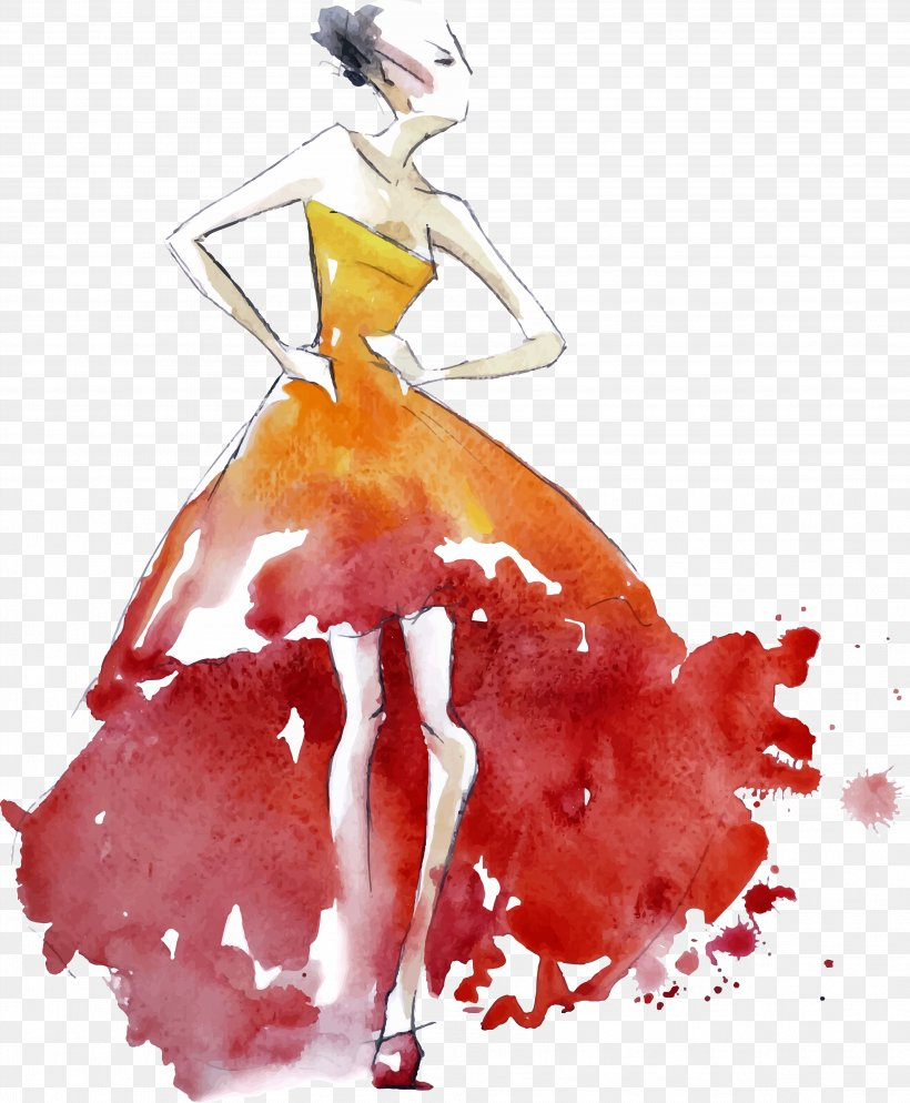 Fashion Design Fashion Illustration Drawing Png 3836x4654px Watercolor Painting Art Costume Design Drawing Dress Download Free