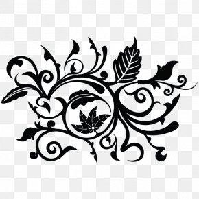 Flower - Flower Black And White Floral Design Clip Art PNG